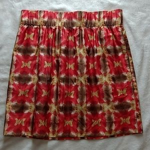 J. Crew patterned mini skirt with pockets